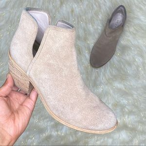 HINGE Tan Suede Ankle Boots Sz 6.5